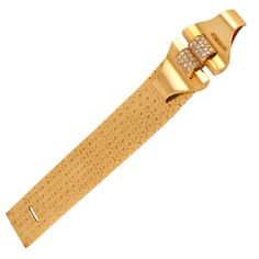 Van Cleef & Arpels Retro Ludo Hexagone Diamond and Gold Bracelet | From a unique collection of vintage more bracelets at http://www.1stdibs.com/jewelry/bracelets/more-bracelets/