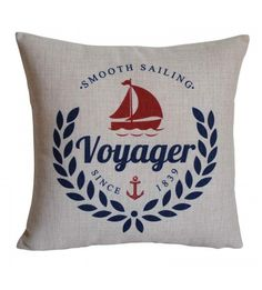 Nautical Voyager Pillow Cover
