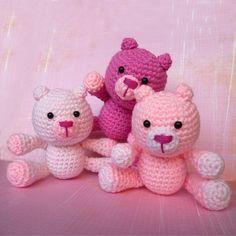 amigurumi | Amigurumi Pink Bears
