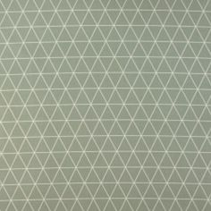 Baumwolle, Grün/Sand Dreieck Muster
