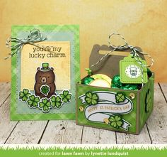 A St. Patrick's Day Card and Treat Box by Lynette