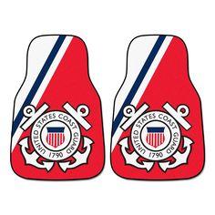 Fanmats 2-pk. US Coast Guard Carpeted Car Floor Mats, Multicolor