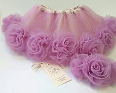 Beautiful ruffly baby tutu and flower baby skirt are the ideal first present baby! This light mauve tutu is made of a double layer of tulle and a layer of taff Perfect for birthday, baby girl clothing-gift, newborn tutu set and babies photo session. Baby Tutu Dresses, Little Girl Dresses, Girls Dresses, Tulle Flowers, Fabric Flowers, Paper Flowers Diy, Robe Diy, Tulle Headband, Baby Tutu