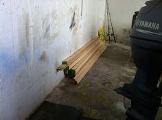 Ya han llegado las maderas para forrar la caseta.
