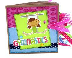 Gymnastics Sports Scrapbook -  Paper Bag Album. $26.00, via Etsy.