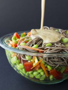 Thai Almond Noodle Bowl | Veggie and the Beast