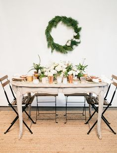 Copper Christmas Inspiration with cotton and greenery for the modern and minimalistic home inspired by Scandinavian design