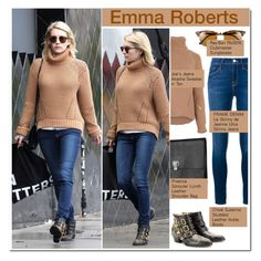 """Celeb Style:  Emma Roberts"" by zhris ❤ liked on Polyvore featuring Ray-Ban, Frame Denim, Proenza Schouler and Chloé"