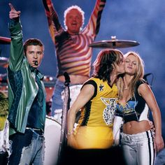 Aerosmith, Britney Spears and 'N Sync - Super Bowl XXXV (2001). Theme: The Kings of Rock and Pop