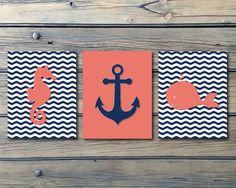 inspiration for navy salmon nautical bathroom