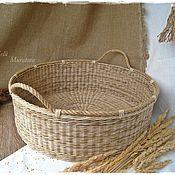 Для дома и интерьера ручной работы. Ярмарка Мастеров - ручная работа Большая  плетеная корзина для фотосессии. Handmade.