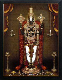 Lord Balaji - Wall Hanging (Print on Laminated Board - Framed)
