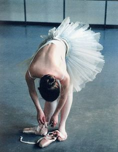 pretty.... it reminds me of the degas painting of the dancer bending over like this one.... maybe she was putting on her pointe shoes...