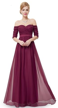 Evening Wear Dress 2016 Off Shoulder Sash Burdundy Piping Chiffon Cheap Red Carpet Evening Wear Dress Party Pageant Prom Gown Formal Gowns Long Evening Dresses Cheap Long Sleeve Evening Dresses Uk From Yoyobridal, $90.79  Dhgate.Com