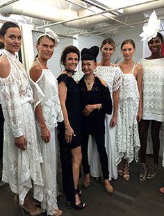 749ea048abc0e Designers Maritza Fernandez and Kyoko Higa at their Filomena Fernandez  Summer Fashion Show Stylists