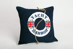 Yacht Embroidered Cushion:  Casual chic with a nautical edge. Finally a cushion design to honour the maritime ambitions of every young boy -in fact, so versatile you may want to keep it in your room.