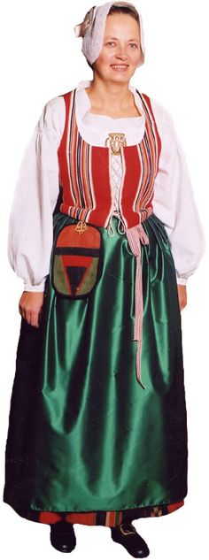 Traditionally some sort of silk shawl would also be worn, nowadays they're not that commonly seen unfortunately but I'm hoping they'll once be worn again with the dresses. Folk Costume, Costumes, Lappland, Silk Shawl, Traditional Dresses, Scandinavian, Cover Up, Native Country, Cold Shoulder Dress