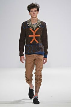 MaXhosa by Laduma knitwear at London Fashion Week: Ubuntu International Project.