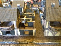 Our first town in a new Savage Worlds RPG with the help of DwarvenForge tiles. Rpg Board Games, Savage Worlds, The Help, Tiles, My Favorite Things, Room Tiles, Tile, Backsplash