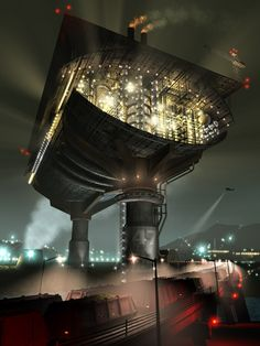 Platform 47 - Futuristic Factory #Science #Fiction #City #Art