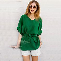 2017 t-shir Summer Plus Size 5Xl Women's Sleeve Bat Loose Blouses Vintage Casual Shirt Ladies Tops Blouses Chemise Femme Vetemen
