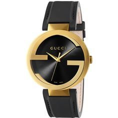 Gucci Interlocking XL Watch featuring polyvore, women's fashion, jewelry, watches, zegarki, interlocking jewelry, gucci wrist watch, gucci jewellery, gucci watches and water resistant watches