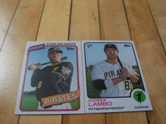 Andrew Lambo RC Starling Marte 2014 Topps Archives Pittsburgh Pirates 2 Card Lot | eBay