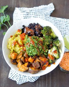This sweet potato lentil bowl is radiance in a bowl; with longevity and energy in every bite. It is delicious, filling, and easy-to-make too!