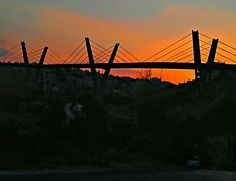 Sunset on Abdoun Bridge on Amman, Jordan. Amman, Golden Gate Bridge, Sunset, Photography, Travel, Photograph, Viajes, Fotografie, Photoshoot