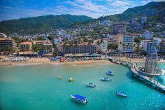 #siyofueramispapas te invitaría a Puerto Vallarta, ¿Aceptarías la Invitación? pic.twitter.com/LhcUTWtQoj  Bird's eye view of new pier at Los Muertos beach, Olas Altas....