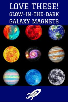 Planetary Fridge Magnets   - Always see your way to the fridge with these glowing fridge magnets! Available in nine different stunning color options, these will fit perfectly on your fridge or any magnetic surface you want to look a little more spacey. These domed magnets have depth to them and look gorgeous at night because they glow in the dark. Some of the coolest glow-in-the-dark magnets in the universe. You know your kitchen will look cooler with these on your fridge.