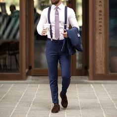 hipster styles – My WordPress Website Men Fashion Photo, Mens Fashion 2018, Mens Fashion Suits, Mens Suits, Men's Fashion, Suit Men, Suit With Suspenders, Suspenders Outfit, Slimming World
