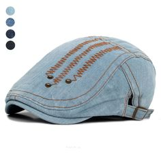 Unisex Denim Berets Hat  #wood #golf #gifts #tiger #jewelry #toys #equipment #toy #gift