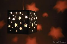 Forget the nightlight! This DIY paper lantern will have your child falling asleep under the stars.
