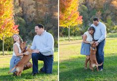 Park engagement session with bride, groom, and dog. See more from @cameraloveart with Knoxville wedding photographer company TowersBrooks Photography!   The Pink Bride® www.thepinkbride.com