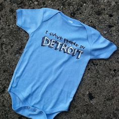 Detroit GT - I have people in Detroit baby snapsuit $19.99