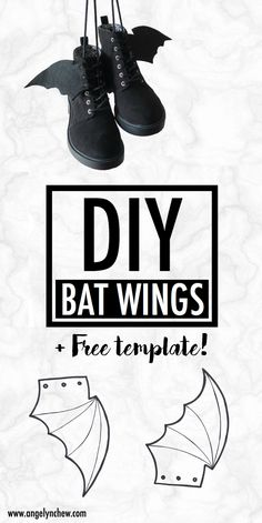 Learn how to make this easy gothic bat wings attachment for your shoe! It adds a little creativeness to your everyday outfits. Wear them for back to school, Halloween party and even on a daily basis! Kakashi Cosplay, Inuyasha Cosplay, Deku Cosplay, Todoroki Cosplay, Cosplay Wings, Catwoman Cosplay, Spiderman Cosplay, Cosplay Makeup, Tokyo Ghoul Cosplay