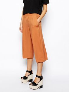 ASOS Culottes ($16) in Tan 9 Ways to Finally Embrace More Color This Spring via @WhoWhatWear