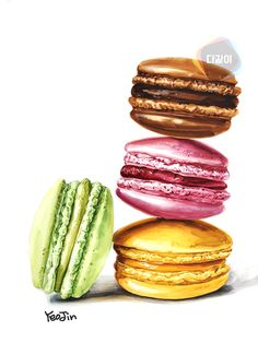 Burger Drawing, Donut Drawing, Food Drawing, Colored Pencil Artwork, Color Pencil Art, Oil Pastel Drawings, Colorful Drawings, Food Art Painting, Desserts Drawing