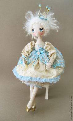 Коллекционные куклы ручной работы. Ярмарка Мастеров - ручная работа. Купить Все девочки принцессы.... Handmade. Голубой, кукла интерьерная