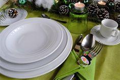 Piatti in porcellana forma Belem: segnaposto cm 30, piatto piano cm 26; piatto fondo cm 22; piatto pane, tazza e  piatto caffè  www.ancap.it
