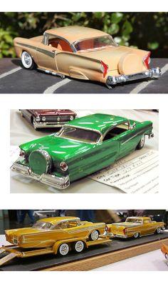 Lowrider Model Cars, Plastic Model Cars, Model Cars Kits, Ford Fairlane, Hot Wheels Cars, Custom Cars, Scale Models, Diecast, Chevy