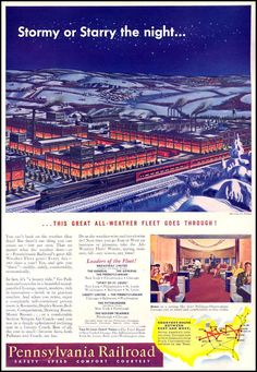 The shortest route between east and west. Pennsylvania Railroad, 1942