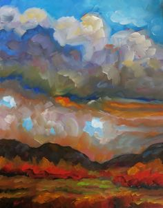 """and other things.... This is my daily art blog. I'm artist Dee Sanchez and I live and work in Alameda, New Mexico - the land of blue skies, red hills, and three unique cultures. What a beautiful place to paint! Join me on my daily painting quest, my plein air adventures, my video logs, my """"getting ready for a show"""" preparations, my painting tips, and I may even throw in an opinion or two...I also document my struggles with getting healthy and my crazy family life"""