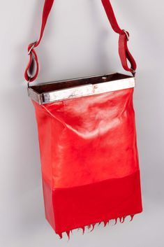 Christian Poell - Object Dyed Drip Rubbered Multi Dimension Bag Christian Poell London is art @ the it Everything Is Awesome, Fabric Manipulation, Getting Old, Wearable Art, Women's Accessories, Leather Boots, Artisan, Women Wear, Superfly