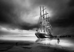 Photo the man and the ship by Vassilis Tangoulis on 500px