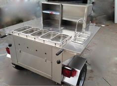 Food and Coffee Trailers - Carts Australia Mobile Food Cart, Mobile Food Trucks, Food Cart Design, Food Truck Design, Taco Cart, Pizza Truck, Coffee Trailer, Taco Stand, Food Truck Business