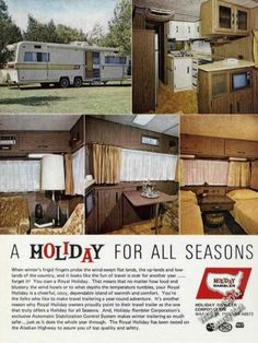 1971+holiday+rambler+travel+trailers | Vintage Travel and Tourism Ads of the 1970s