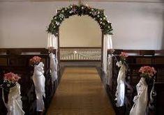 Resultado de imagen para manualidades ,decoraciones de iglesias para matrimonio