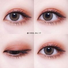 Pin von Cherilynn auf Make-up - Makeup Products Lipstick Korean Makeup Look, Asian Eye Makeup, Kawaii Makeup, Cute Makeup, Makeup Trends, Makeup Eyeshadow, Eyeliner, Ulzzang Makeup, Korean Makeup Tutorials